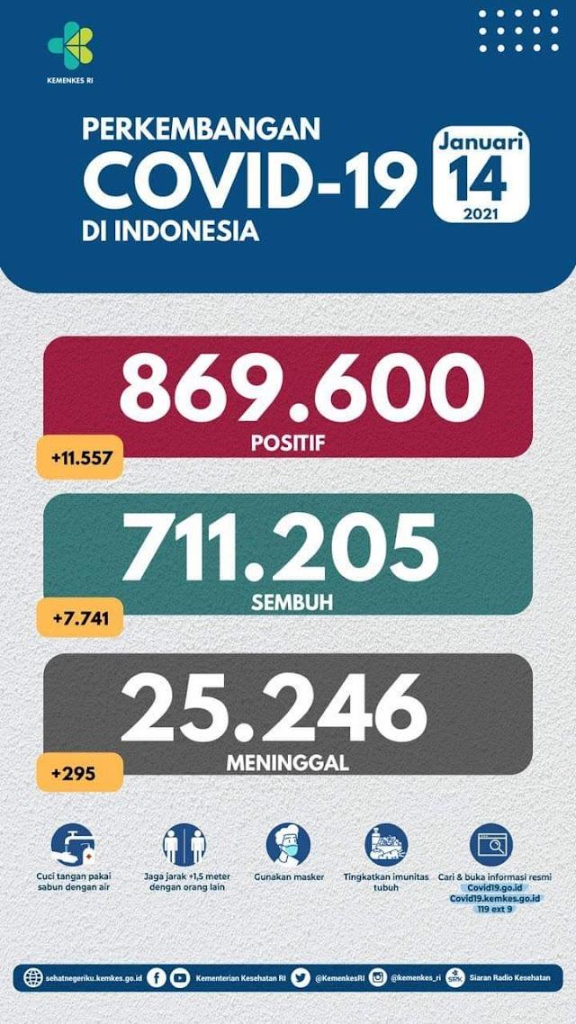 (14 Januari 2021) Jumlah Kasus Covid-19 di Indonesia