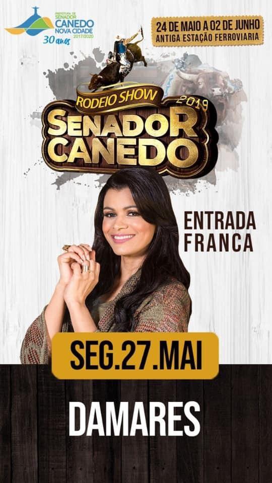 Senador Canedo: Cantora Damares traz noite de louvor para o Rodeio Show