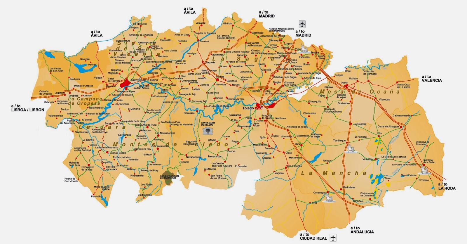 Mapa Provincia De Toledo Turismo.Mapa Provincia De Toledo Pueblos Mapa