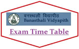 Banasthali University Date Sheet 2021