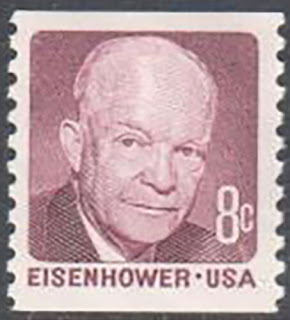 8c Dwight Eisenhower Coil stamps