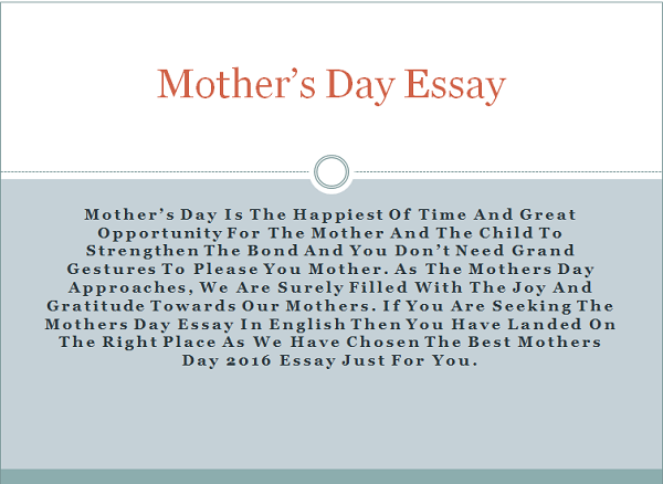 Essay on Mother for Children and Students