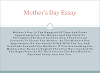 Essay on Mothers Day | Mothers Day Essay