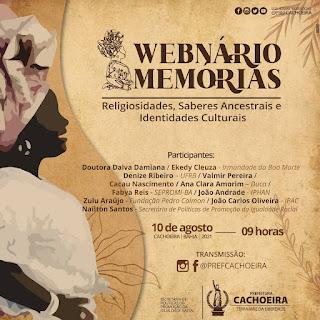 Imagem: Cachoeira: Webnário promove conversa sobre religiosidade