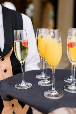 mimosas on tray