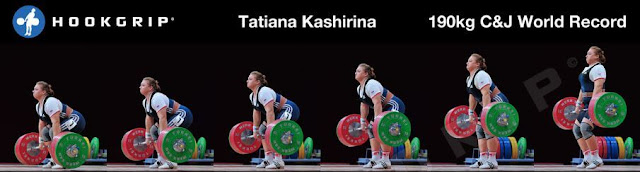 Tatiana Kashirina 190kg C&J World Record.  StrengthFighter.com