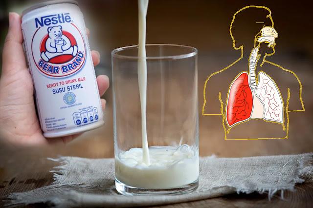 manfaat susu beruang untuk membersihkan paru paru