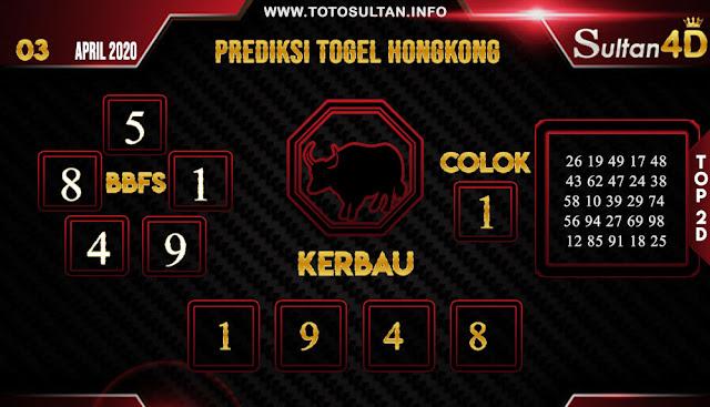 PREDIKSI TOGEL HONGKONG SULTAN4D 03 APRIL 2020