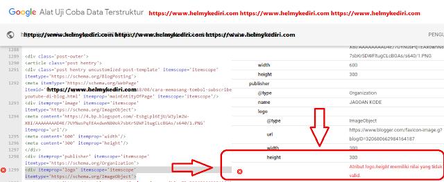 Mengatasi error stuctured data attribute logo.height invalid value