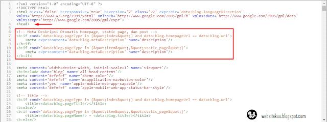 Cara Memasang Meta Tag Keywords Dan Description Otomatis Di Blog