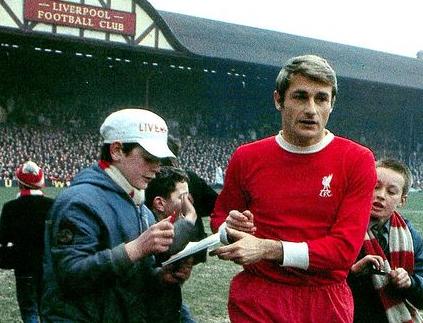 Roger Hunt - record goal scorer for Liverpool.