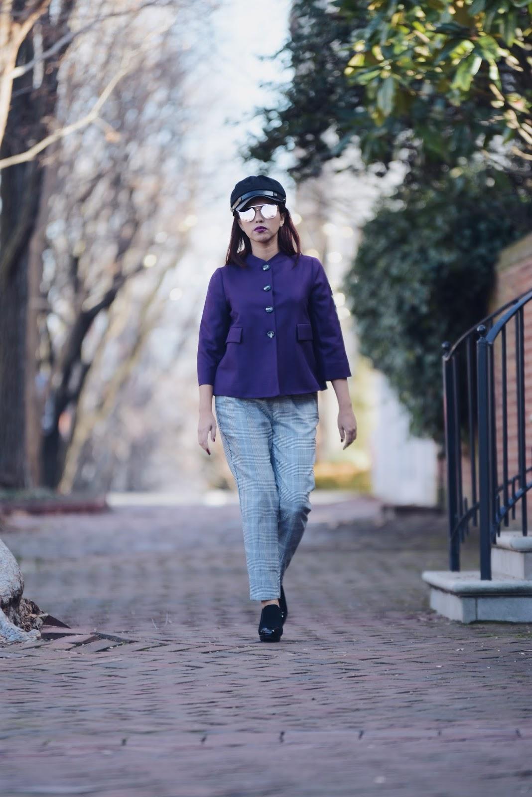Ultra Violet, PANTONE® Color of The Year 2018 wearing a @lindsaynicholasnewyork piece.