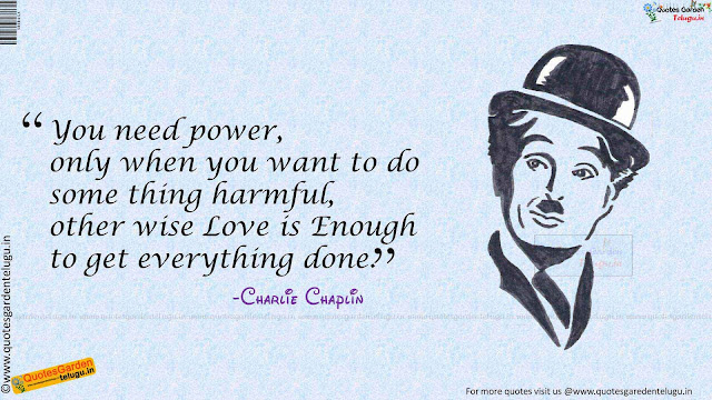 Heart touching love quotes from Charlie Chaplin