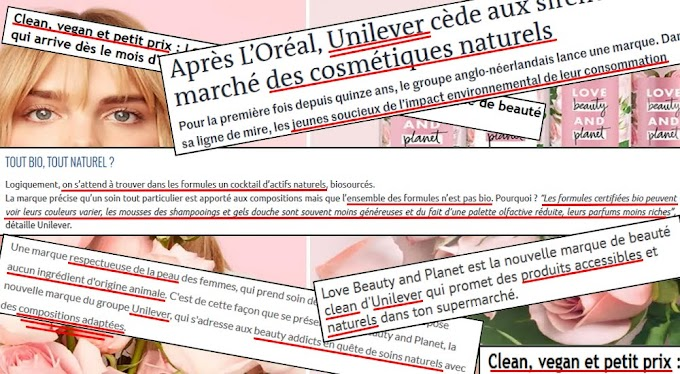 Greenwashing: Love Beauty and Planet vraiment naturel ?