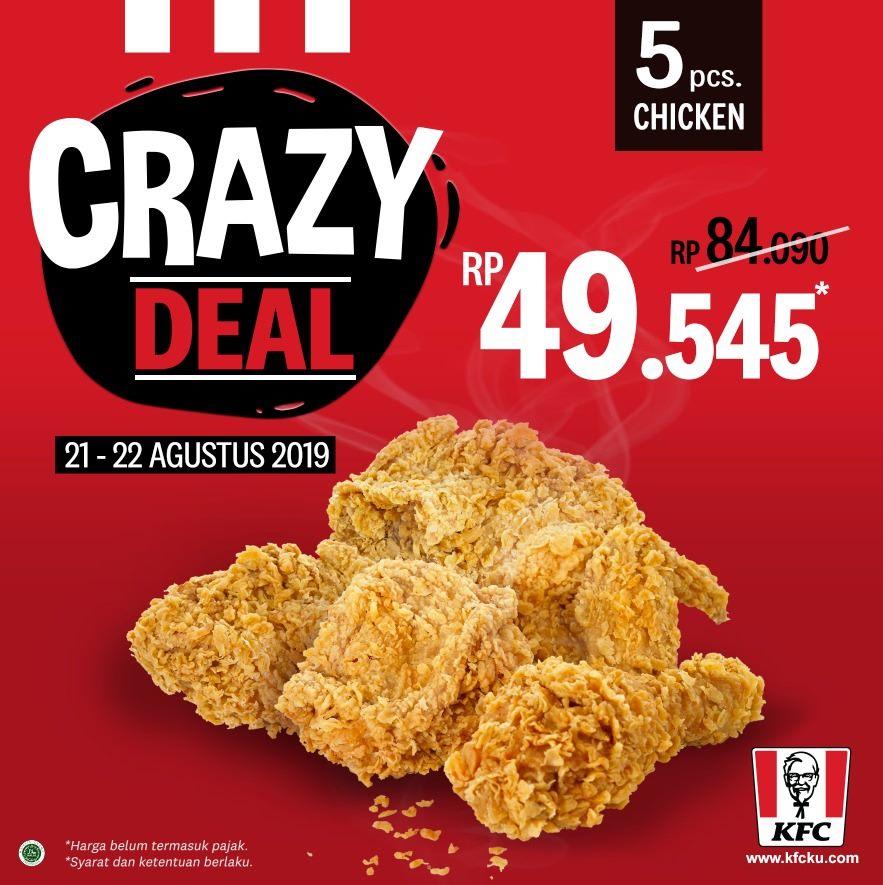 Promo KFC CRAZY DEAL Terbaru 21 - 22 Agustus 2019