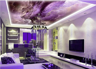 Ceiling Mural Home Design Ideas