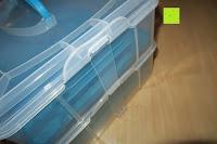 Clip: Andrew James – Verstellbarer Kuchentransportbehälter 2 Etagen – Hält Bis Zu Zwei Große Kuchen Oder 24 Cupcakes – Mit 2 Cupcake-Einsätzen – 2 Jahre Garantie