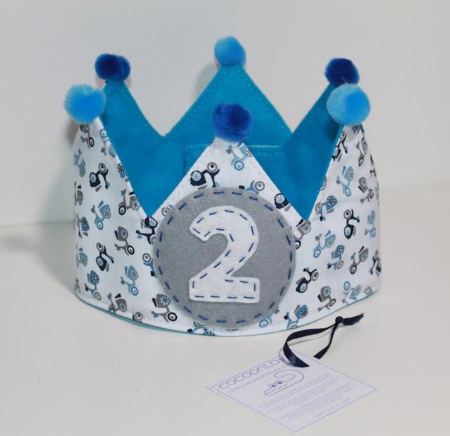 corona de cumpleaños motos 2 años