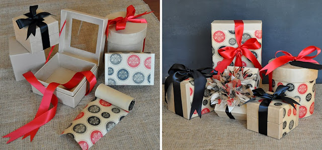 wrapping paper band packaging projects by Lorrie Everitt on the Creative Bag blog