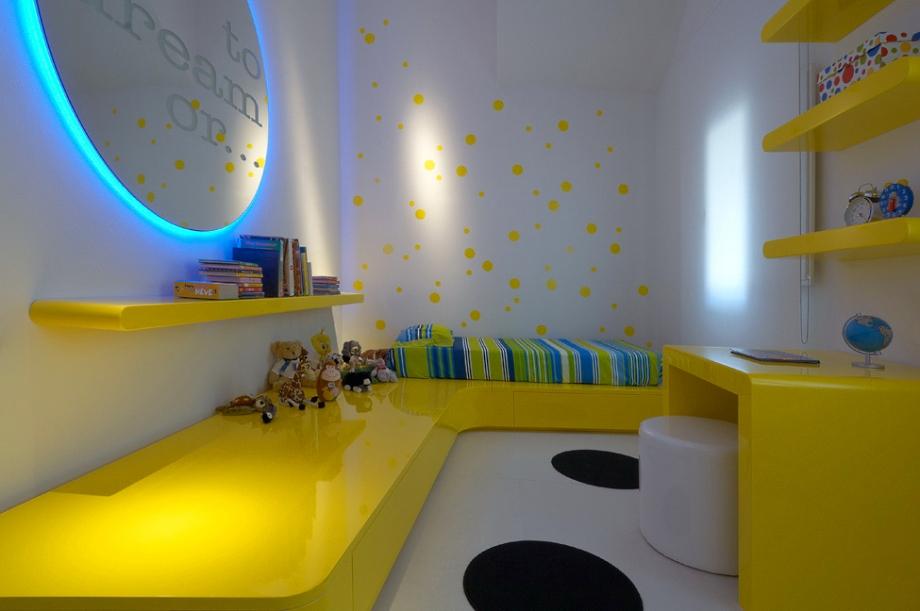 Yellow-Blue-Bedroom