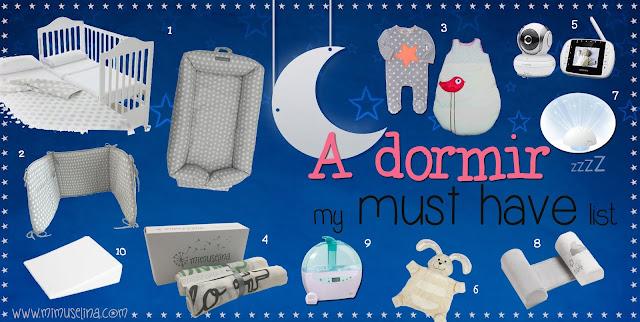 blog mimuselina top 10 imprescindibles para el sueño del bebé must have accesorios dormir niños