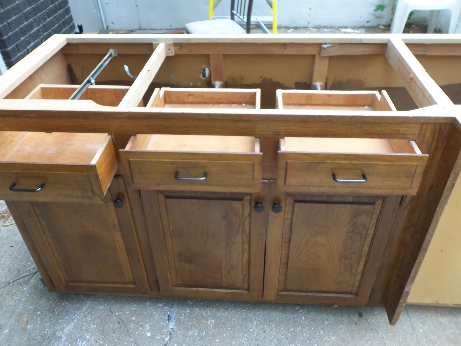 Kitchen Island With No Drawers Along Top