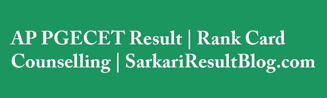 AP PGECET Result 2015