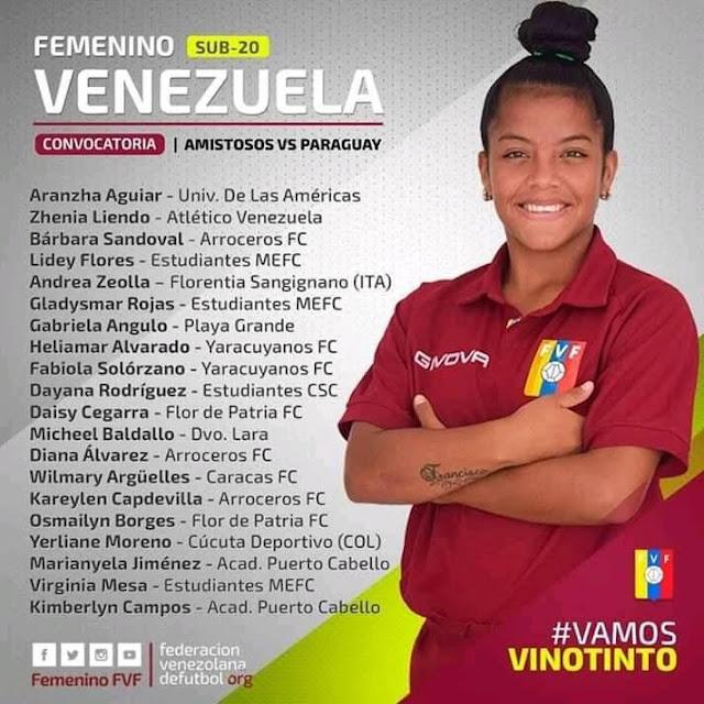 APURE: Nativa de San Fernando Diana Álvarez convocada a la Vinotinto Sub-20 para enfrentar en amistoso a Paraguay.