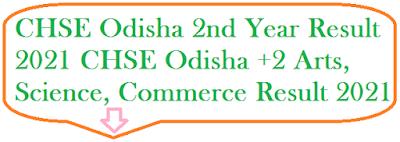 CHSE Odisha +2 Result 2021