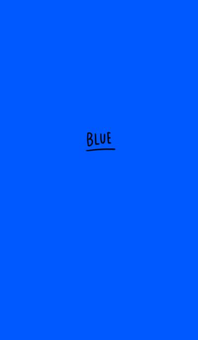 Blue blue. simple.