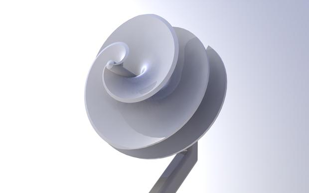 Turbina en perspectiva con Solidworks
