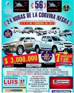 El 11 y 12 de Febrero - Las 24 hs. de la Corvina Negra en Claromecó, Reta y Orense