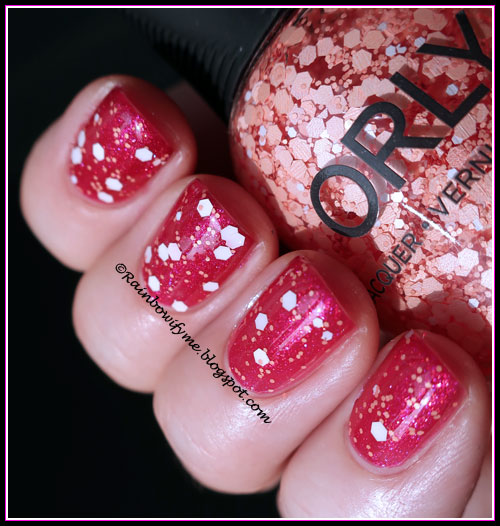 W7: Cerise Pink with Orly: Warm It Up