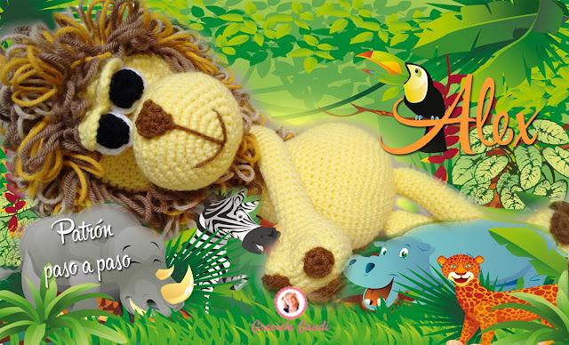 paso a paso leon crochet