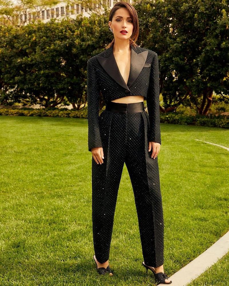 Rose Byrne Clicked For Bafta Awards 2021 Photoshoot