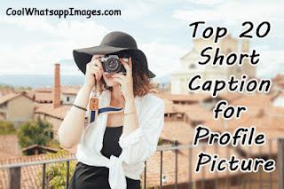 Top 20 Short Caption for Profile Picture