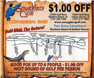 A coupon from Smugglers Cove Adventure Golf in Florida. From Pat Sheridan / The Putting Penguin
