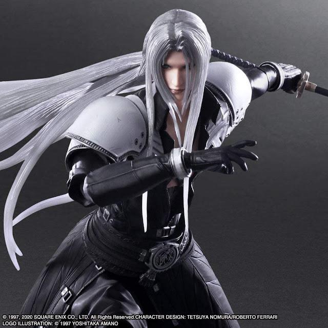 Play Arts Kai Sephiroth y Rude de Final Fantasy VII Remake.