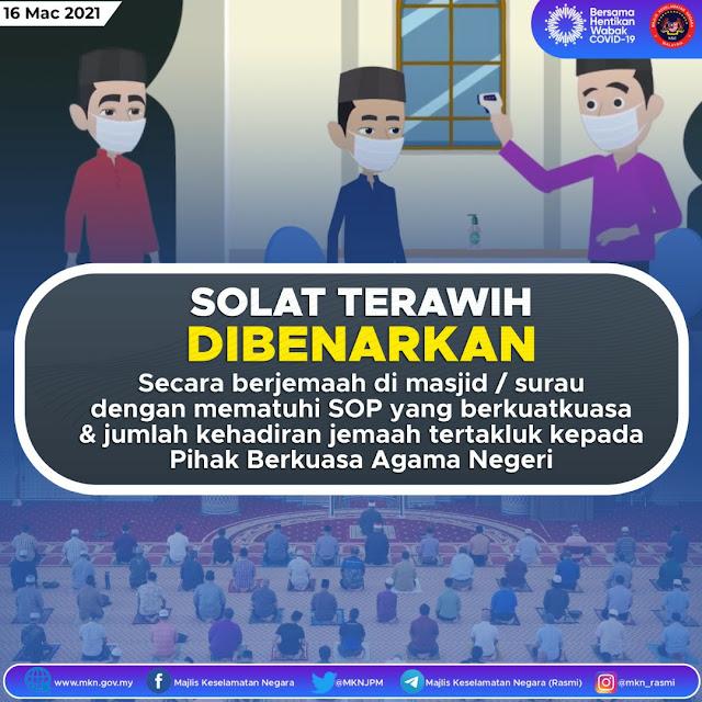 tarawih jemaah dibenark