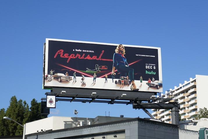 Reprisal series launch billboard
