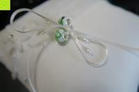 Ringe festbinden: Hochzeit Ringkissen Kissen mit Faux Perle Blume Satin Elfenbein 20cm*20cm ---Ivory