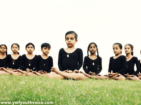 Dera Sacha Sauda Creating International Yoga Champions, Cute Little Kids Girls Doing Yoga In Open, Kids Yoga Practice