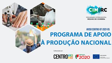 Município e CIM RC promovem sessão de esclarecimentos on-line, sobre o Programa de Apoio à Produção Nacional (PAPN)