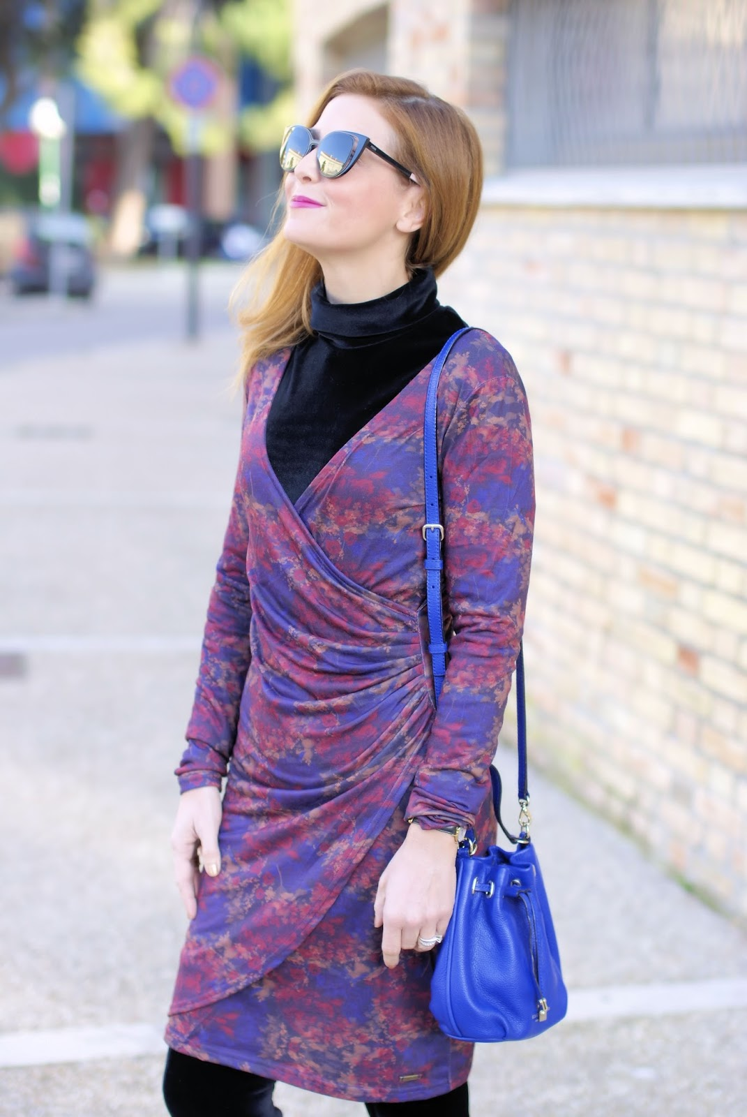 How to wear a wrap dress in winter: Smash! Avelina dess on Fashion and Cookies fashion blog, fashion blogger style
