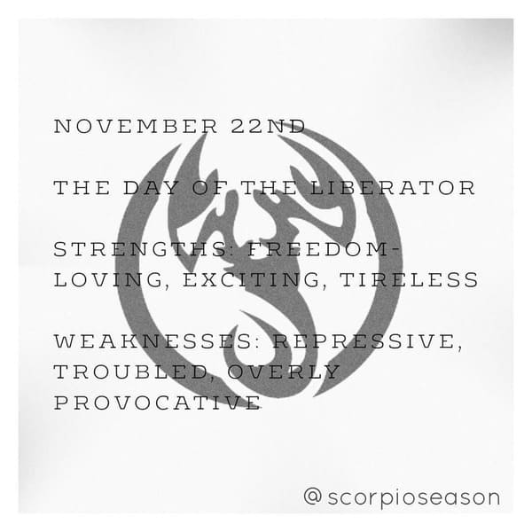 november 22 sign astrological