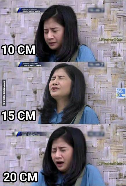 5 Meme 'Ekspresi Tertusuk 10, 15, 20 cm' Ini Kocaknya Bikin Gagal Paham