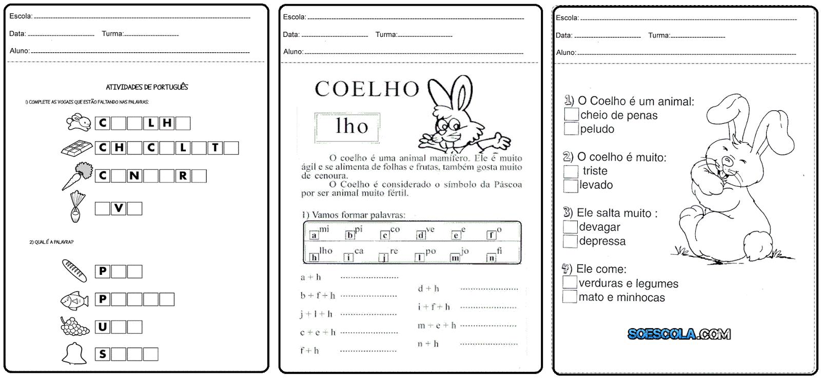Atividades De Português Para Imprimir