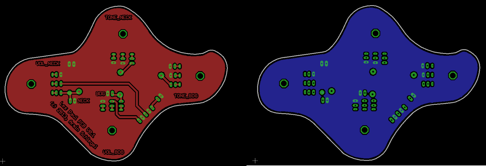 New Wiring For My Epiphone Les Paul Edmar Hobby Electronic 2012 Standard Pcb Diagram And A Layout Fitting In The Milling Of