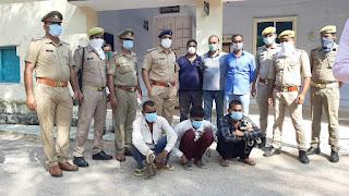 झाँसी: थाना टोड़ीफतेहपुर, सर्विलांस एवं स्वाट की संयुक्त टीम द्वारा अंतर्जनपदीय शातिर चोरों को गिरफ्तार किया