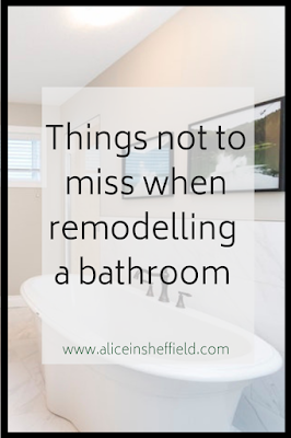 Remodelling a bathroom